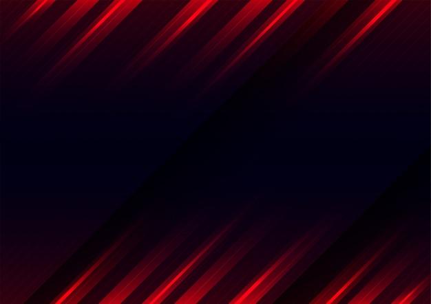 Fond rouge futuriste de mouvement de vitesse.