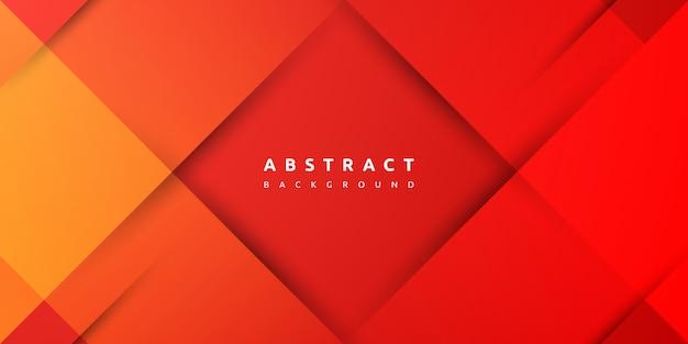 Fond rouge géométrique coloré moderne
