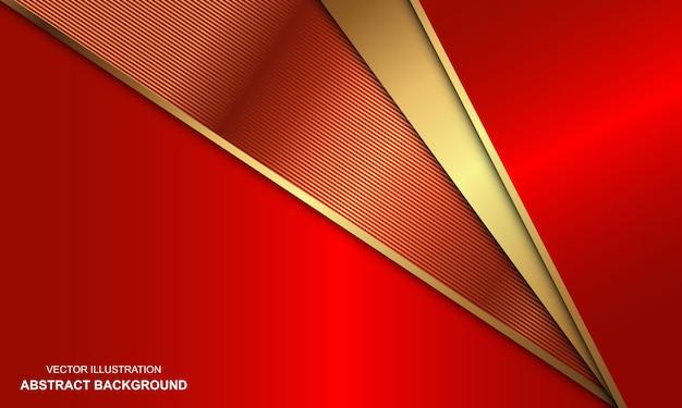 Fond rouge de luxe avec combinaison de lignes dorées