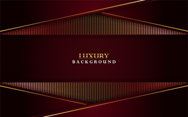 Fond rouge de luxe avec des combinaisons de lignes dorées