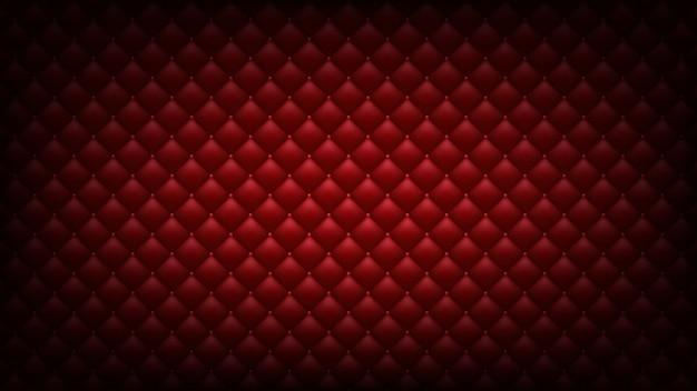 Fond rouge matelassé. fond d'écran large.