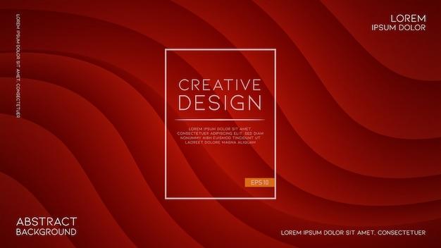 Fond rouge moderne et futuriste avec des formes ondulées