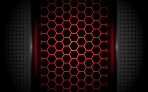 Fond rouge moderne à six pans