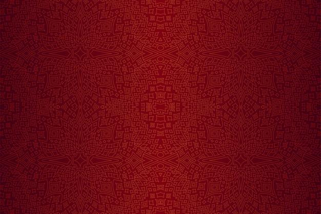 Fond rouge avec motif étoilé linéaire