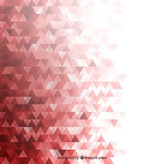 Fond rouge avec des triangles