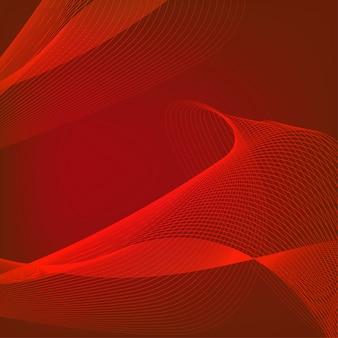 Fond rouge avec le vecteur de dessin au trait