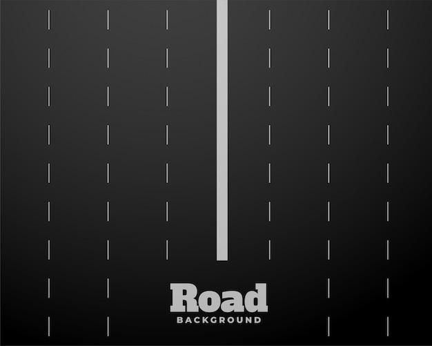 Fond de route noire à huit voies