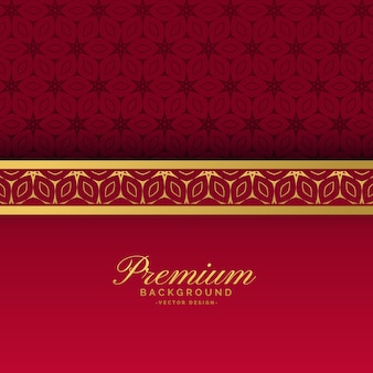 Fond royal de luxe ethnique rouge et or