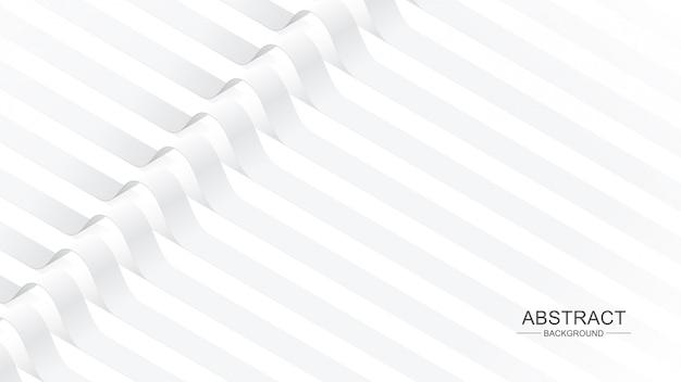 Fond de rubans courbes blanches