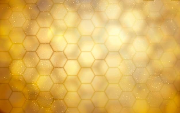 Fond de ruche dorée floue pour les utilisations