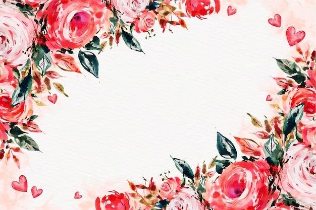 Fond de saint valentin aquarelle avec un espace vide