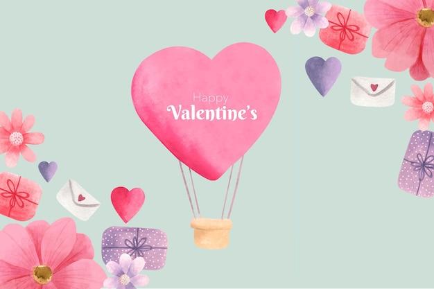 Fond de saint valentin aquarelle