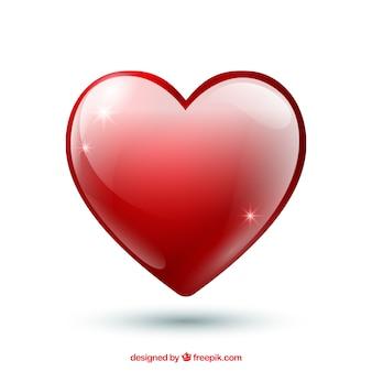 Fond de la saint-valentin avec coeur rouge