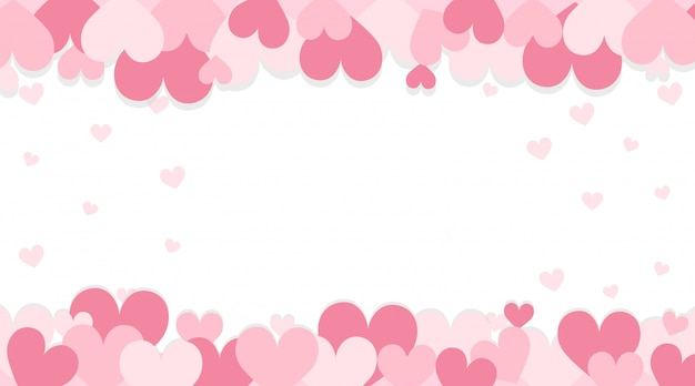 Fond de la saint-valentin avec des coeurs roses