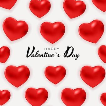 Fond de la saint-valentin avec des coeurs