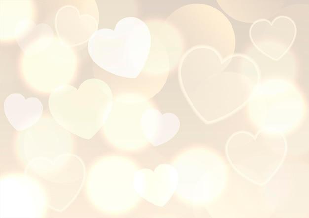 Fond de saint valentin avec conception de lumières bokeh dorées