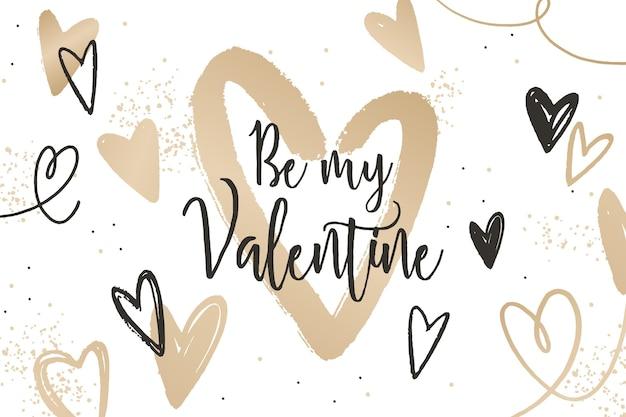 Fond de saint valentin doré