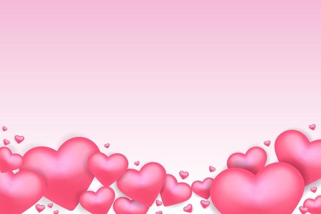 Fond de saint valentin avec foyer réaliste ou amour vecteur premium