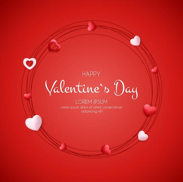 Fond de saint valentin heureux avec coeur.