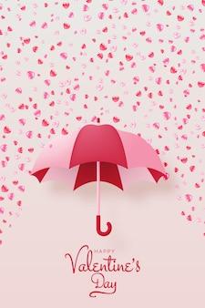 Fond de saint valentin heureux avec illustration de style mignon et charmant
