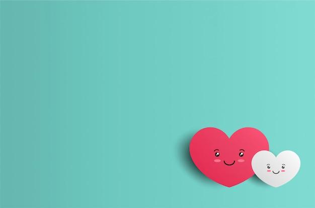Fond saint-valentin avec personnage de coeurs