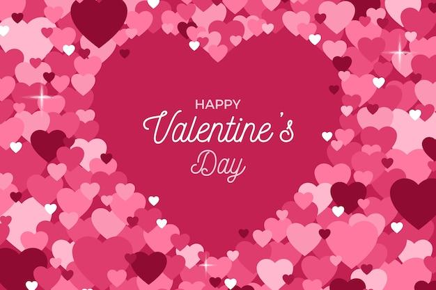 Fond de saint valentin pétales coeur abstrait