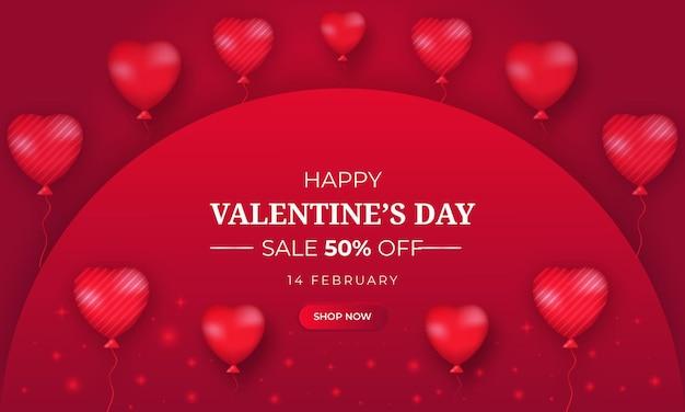 Fond de saint valentin réaliste avec coeur