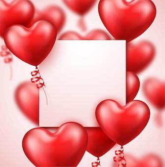 Fond de saint valentin réaliste avec un espace pour le texte