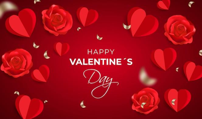 Fond de saint valentin réaliste
