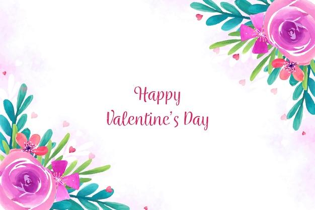 Fond de saint valentin avec des roses