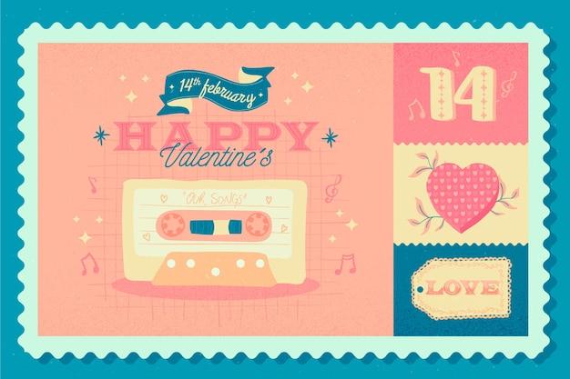 Fond de saint valentin vintage