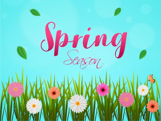 Fond de saison de printemps.