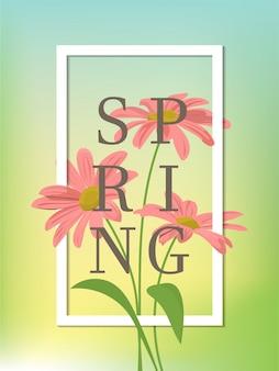 Fond de saison de printemps