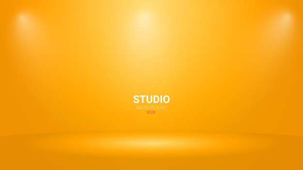 Fond de salle studio vide avec sportslights.