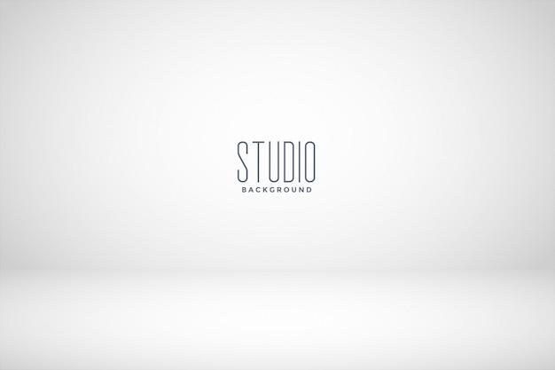 Fond de salle vide studio blanc