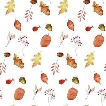 Fond sans couture automne automne feuillage