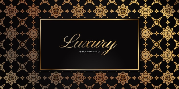 Fond sans couture de luxe mandala or