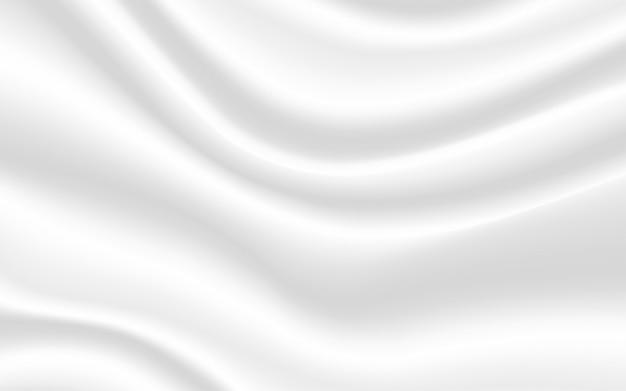 Fond de satin de soie blanc fond de texture lisse
