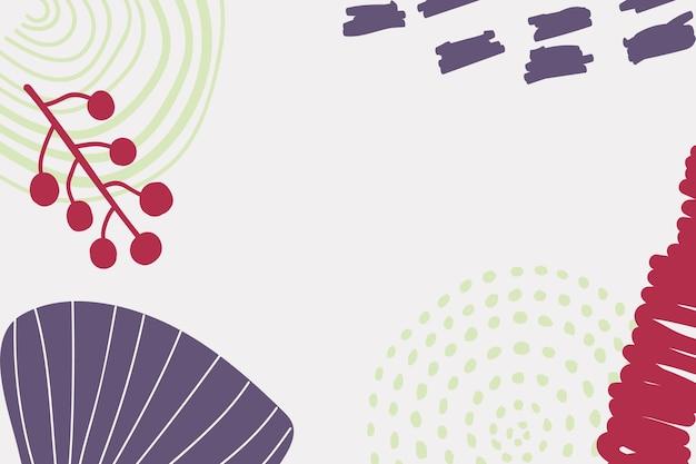 Fond scandinave du milieu du siècle en violet et rouge