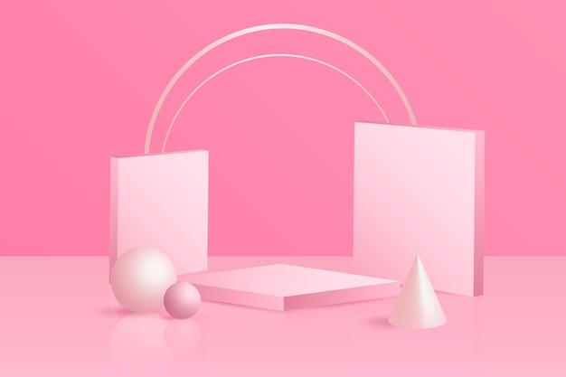 Fond de scène abstraite 3d
