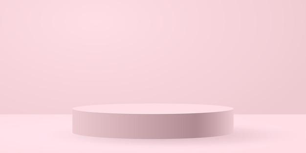 Fond de scène de cercle blanc