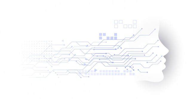 Fond de schéma de circuit de technologie face