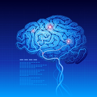 Fond de science abstraite avec cerveau