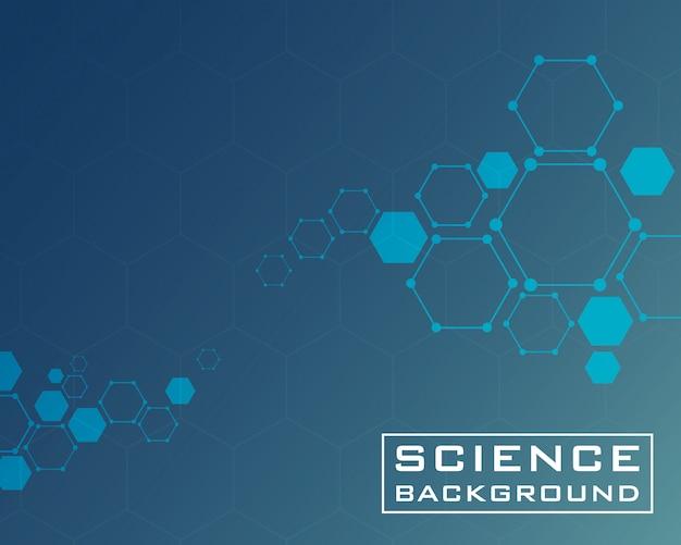 Fond de science bleu foncé avec des structures de lignes
