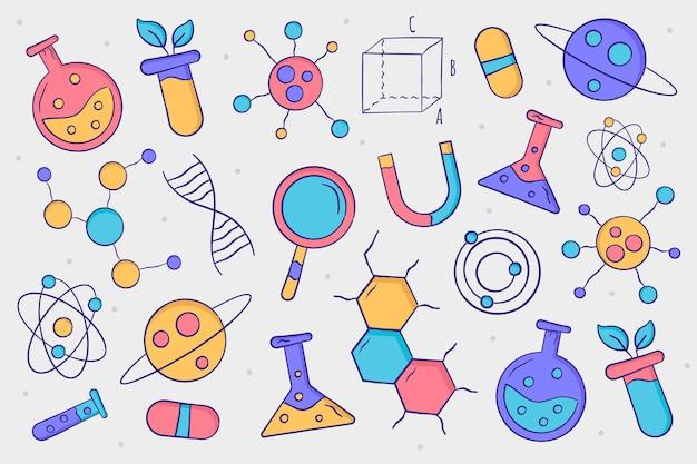 Fond de science dessiné à la main
