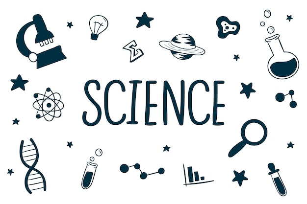 Fond de science dessiné à la main