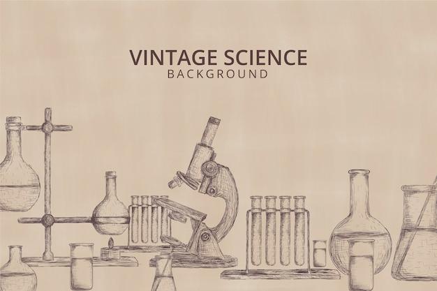 Fond de science vintage