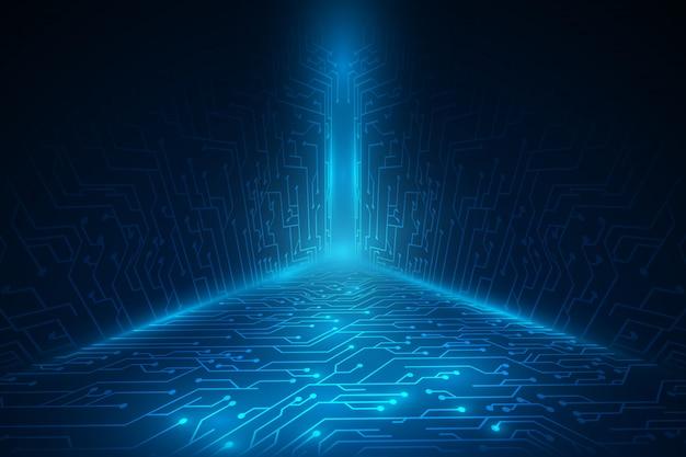Fond de scifi de technologie