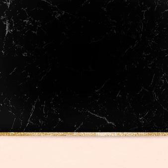 Fond scintillant doré en marbre esthétique noir