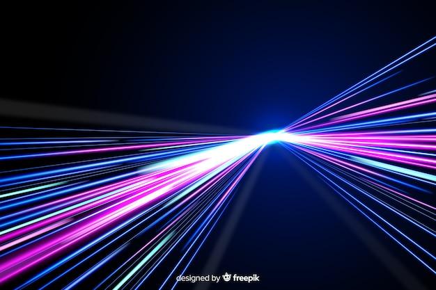Fond de sentier coloré néon